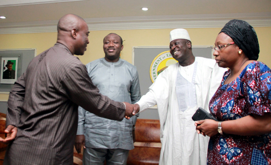 Governor Fayemi with KWAM 1, Abdullahi