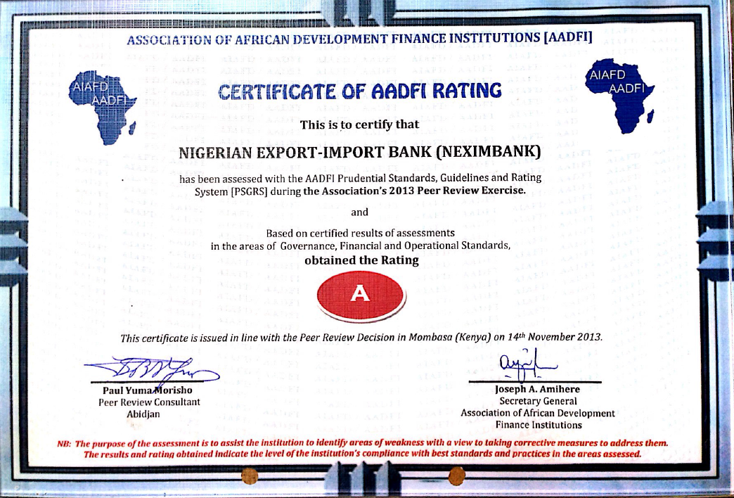 Nexim Bank Rated As Best Performing African Development Finance
