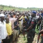 Soka den with policemen