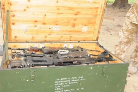 recovered ammunition from terrorists in Konduga