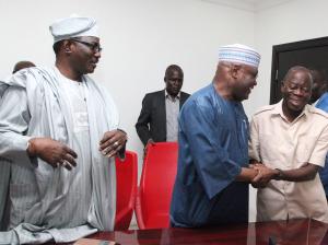 Atiku Abubakar with Governor Adams Oshiomhole