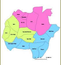 Map of Ekiti State