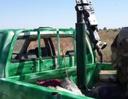 Captured terrorists Vehicle mounted with Anti-Aircraft Gun  and Laden with IED (2)