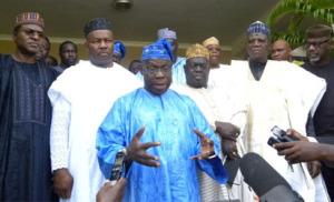 Olusegun Obasanjo and five PDP governors 1