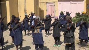 Boko Haram child soldiers training