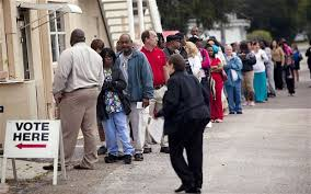 Voters on the queue