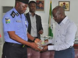 Governor Oshiomhole and CP Adegbuyi