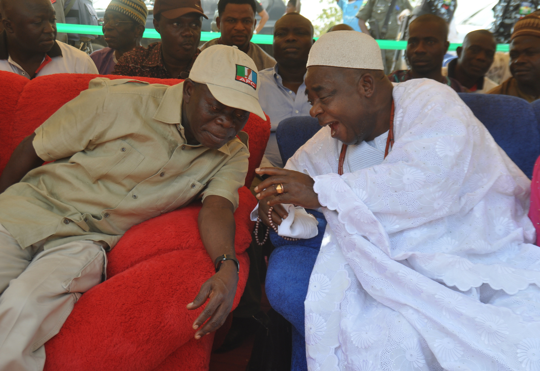 Governor Oshiomhole at Okpella project commissioning