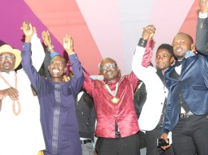 Governor Uduaghan with comedians