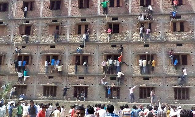 How parents aid Indian students to cheat in exam hall, +