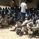 Captured Boko Haram terrorists in Banki