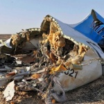 Debris of crashed Russian jet in Egypt