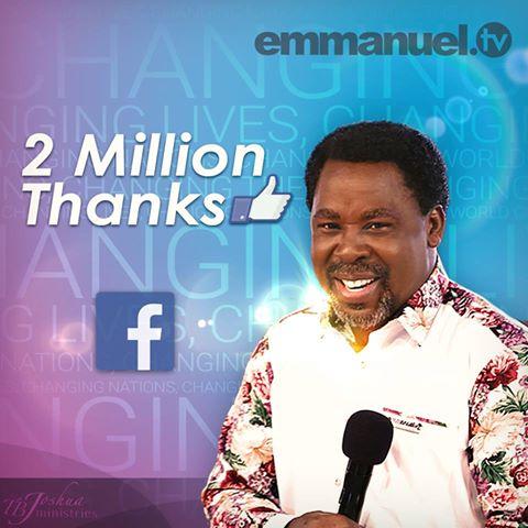 TB Joshua reaches 2m Facebook fans – The Eagle Online