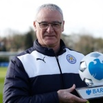 Claudio Ranieri with EPL Coach awards