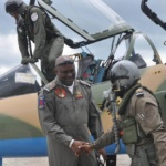 Air Component Commander OPERATION  PULO SHIELD receiving   the Alpha Jet pilots on arrivial at the flight  line (1)