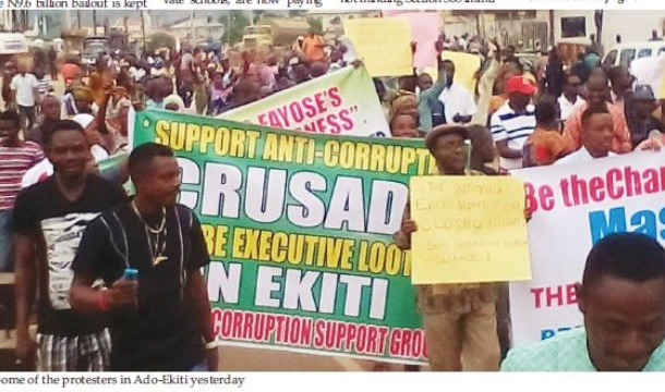 N4.7b election fund scandal: Ekiti erupts in protest