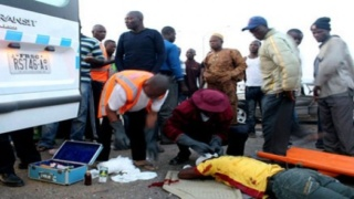Accident victims being attended to by FRSC officials