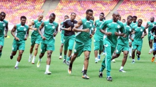 PIC.3. SUPER EAGLES TRAINING AT THE NATIONAL STADIUM IN ABUJA ON THURSDAY (6/10/11).