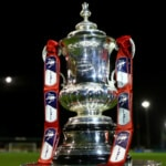 WARRINGTON, ENGLAND - NOVEMBER 07:  The Cup is displayed ahead of the FA Cup First Round match between Warrington Town and Exeter City at Cantilever Park on November 7, 2014 in Warrington, England.  (Photo by Jan Kruger/Getty Images)