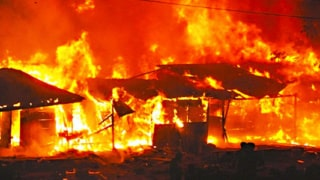 Image result for Ebonyi Government House was on Friday gutted by fire which disrupted activities