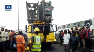 Luxury bus plunges into Majidun River:Channels Television