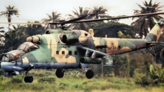 Nigerian Air Force attack helicopter