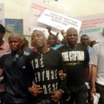 """Pic.10. Some officials of """"One Voice Nigeria"""", dring a peaceful protest in Lagos on Monday (6/2/17). 00984/6/2/2017/Okoya Olatunde/BJO/NAN"""