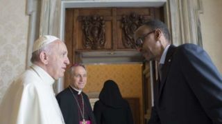 Pope Francis and President Paul Kagame