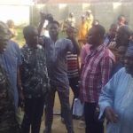 Governor Ayo Fayose at scene of clash