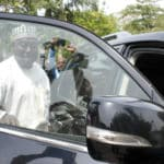 L  Pic 3. Secretary to the Government of the Federation, Mr Babachir Lawal  leaving the Presidential Villa Abuja after the announcement of his suspension in Abuja on Wednesday (19/4/17). 02294/19/4/2017/Callistus Ewelike/NAN