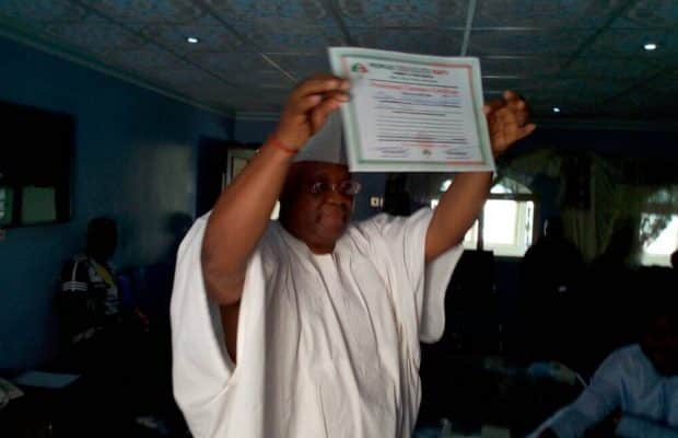 INEC presents Certificate of Return to Ademola Adeleke