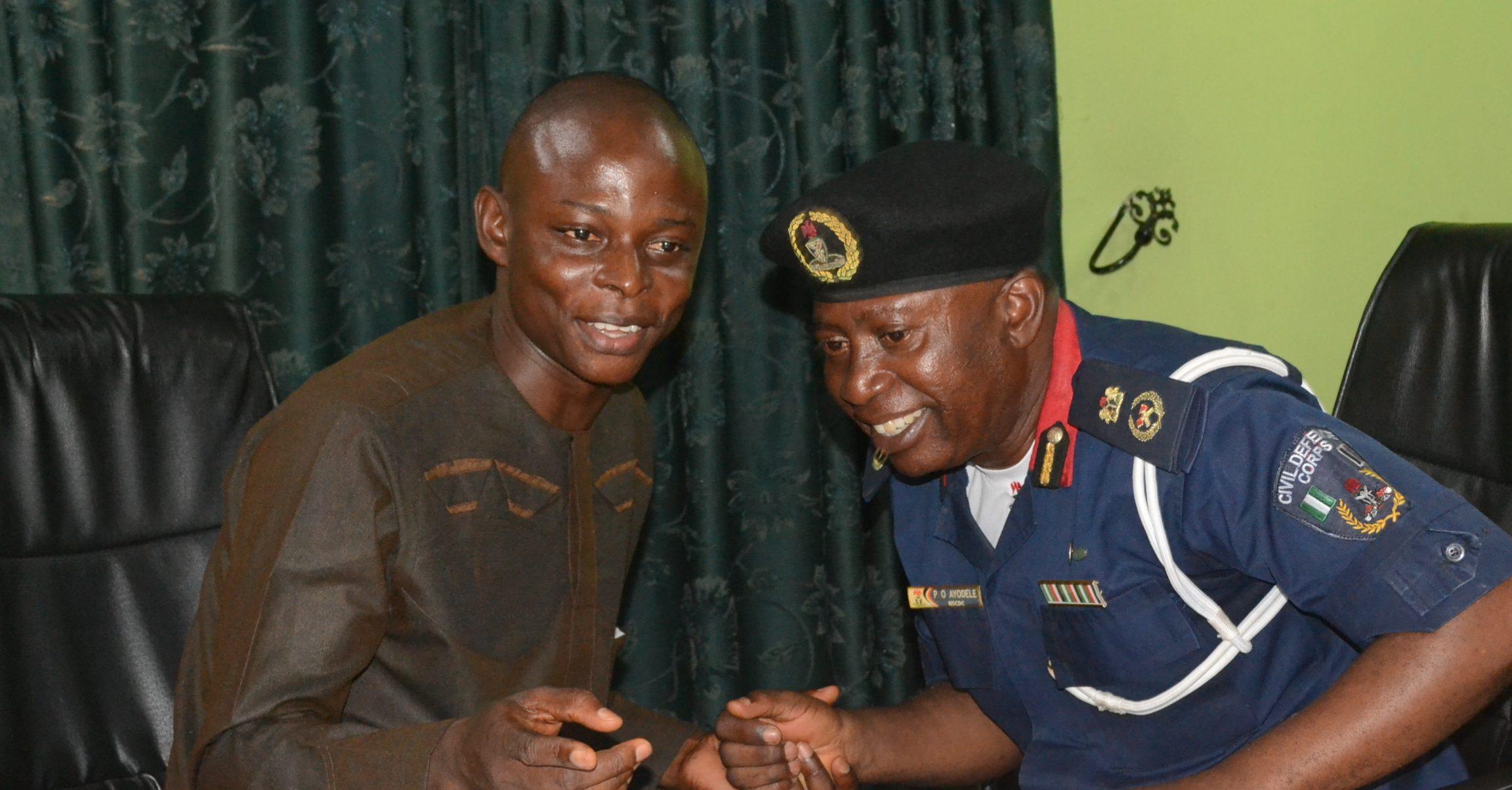 Photo News: NSCDC Commandant visits Correspondents' Chapel in Osun
