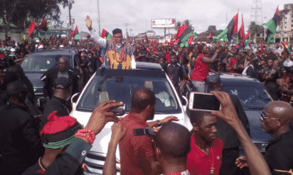 Tension in Anambra as Kanu visits Ekwulobia