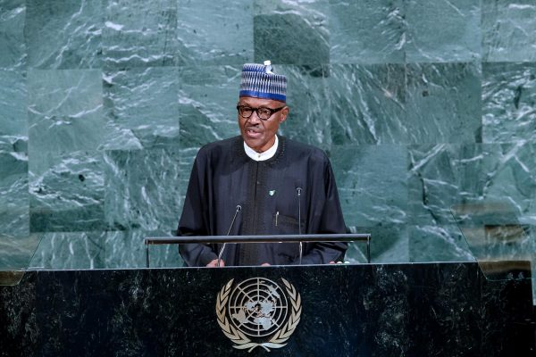 Pic 24 President Buhari Speaks at the 72nd UNGA