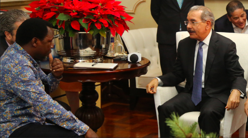 TB Joshua meets with Dominican Republic President ahead crusade +