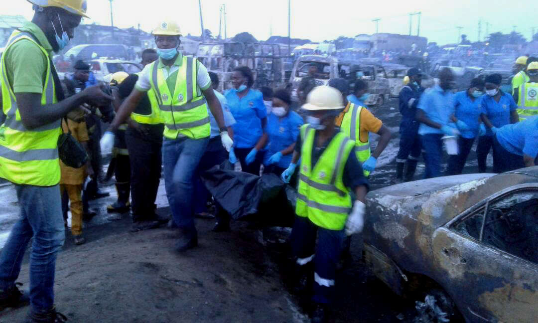 Image result for Update: Nine die, 60 vehicles burnt as fuel-laden truck explodes on Lagos bridge