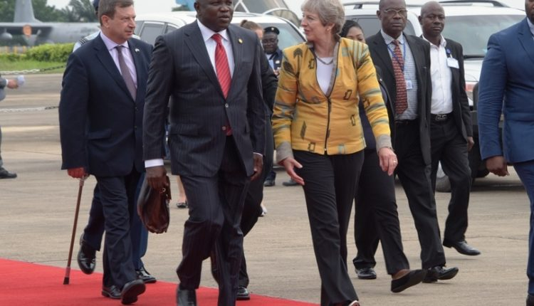 Image result for theresa may visit in nigeria