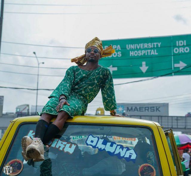 Photos as US-based Social Media sensation, Mama Tobi, takes craze to Lagos  streets -