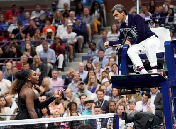 serena and chair umpire