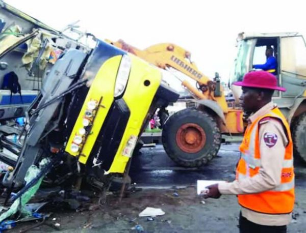 Image result for Five injured as truck rams into two tricycles, passersby in Ibadan