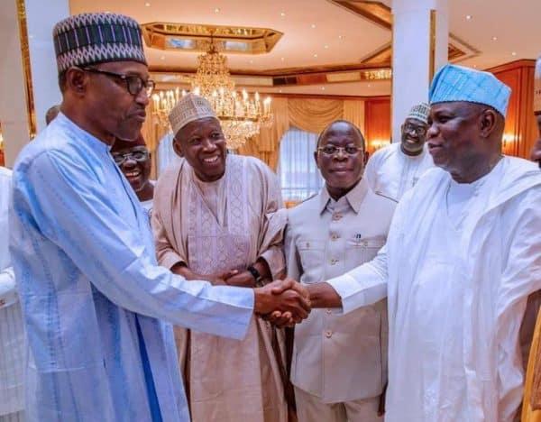 Image result for Ambode Congratulates Buhari, Osinbajo On Re-election