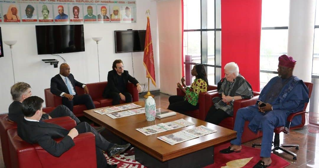 Image result for Healthcare: One campaign co-founder Bono applauds FG's efforts