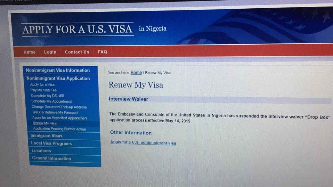 Breaking: US Embassy suspends Drop Box visa application in