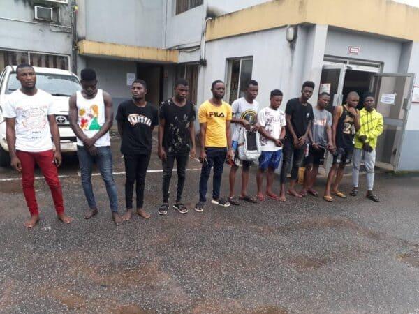 EFCC arrests 11 suspected internet fraudsters in Delta -