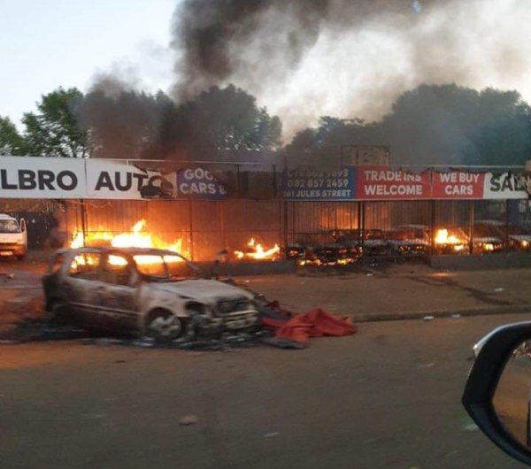 South African Police Arrest Dozens After Riots in Johannesburg