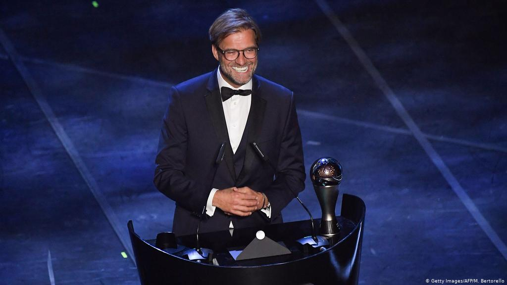 Liverpool manager Klopp 'shocked' at winning FIFA's Best coach award