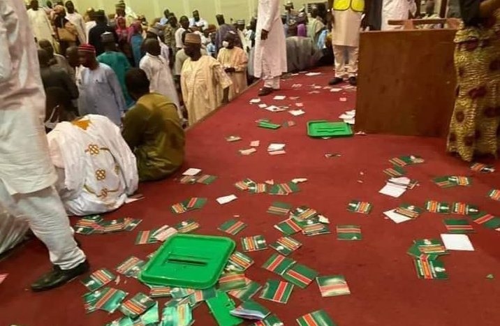 Photos as PDP North West Zonal Congress turns violent, ballot boxes  destroyed -