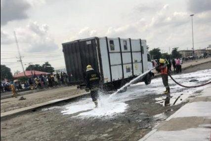 LASEMA averts explosion as excavator destroys gas pipeline -